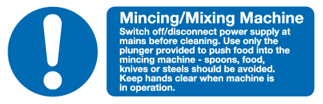 Mincing / Mixing Machine sign