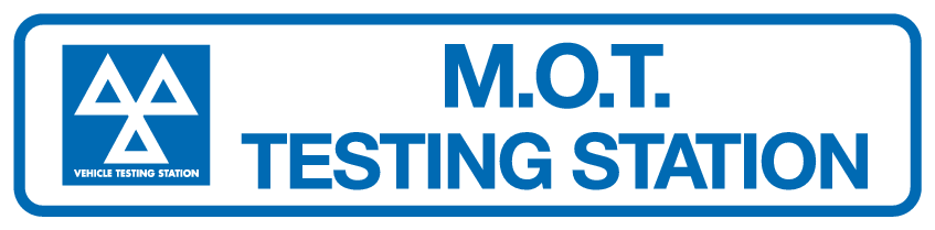 M.O.T Testing station sign