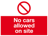No cars allowed on site sign