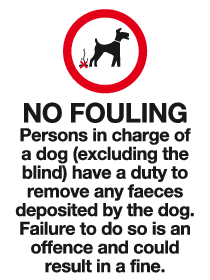 No fouling rule sign