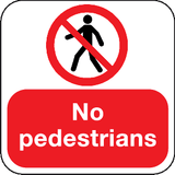 no pedestrians floor sign