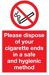 Dispose of your cigarette ends