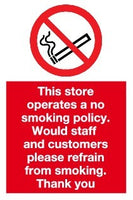 no smoking policy notice