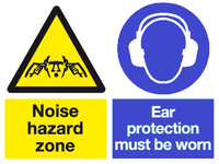 noise hazard zone ear protection must be worn