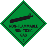 Non-flammable non-toxic gas label