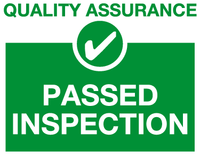 Passed inspection sign