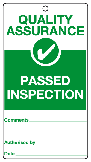 Passed Inspection tag