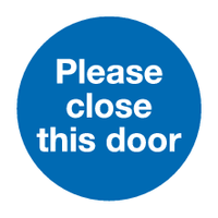 Please close this door sign