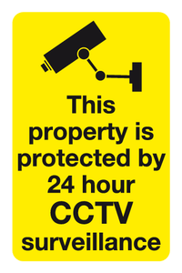 This property is protected by 24hrs CCTV Surveillance sign