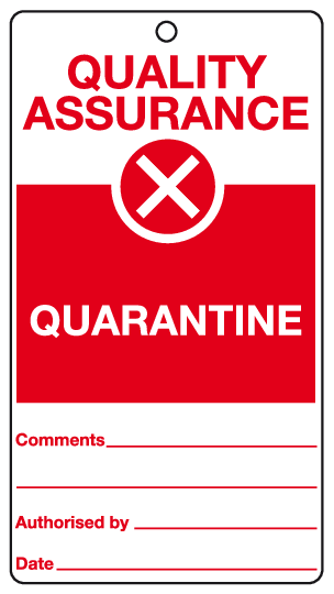 Quarantine tag