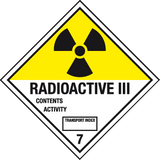 Radioactive III label
