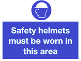 safety helmets myst be worn in this area
