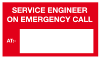 text Service Engineer on emergency call sign