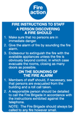Fire Action staff notice