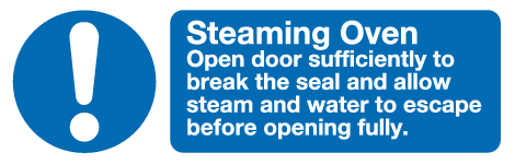 symbol and text Steaming Oven sign