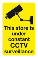This store is under constant CCTV surveillance sign