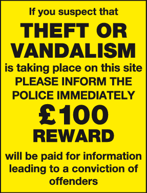 If you suspect Theft or vandalism sign