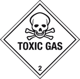 Toxic gas label