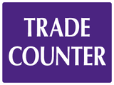 Trade counter sign