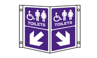 unisex disabled toilet projecting sign