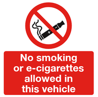 e-cig vehicle sign