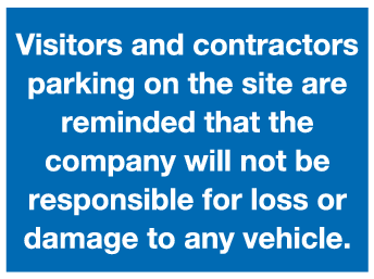 Visitors and contractors parking sign