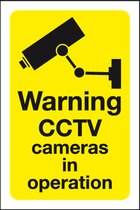 image and text Warning CCTV cameras in operation sign