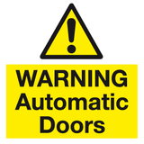 warning automatic door sign