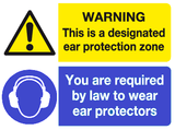 ear protection zone we are ear protectors sign