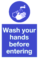 Wash your hands before entering sign