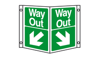 Way out projecting sign