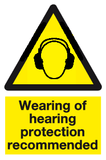 wearing of hearing protection recommended
