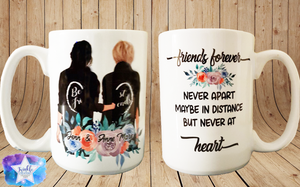 Friends forever custom mugs