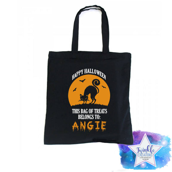 Personalized Halloween Trick or Treat Bags, Trick or treating bags, Candy Bag, Personalized Candy Tote, Halloween Sack, Trick or Treat Tote