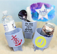 Personalized Beach Spiker Cup Holder, Drink Cup Holder, Beach Cup and Cellphone Holder, Beach Spiker, Life is better at the beach Cup Holder
