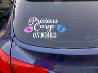 Precious Cargo On Board Car Sticker, Car Decal, Baby on Board Car Decal, Baby feet Car Decoration, Vehicle Sticker, Bumper Sticker