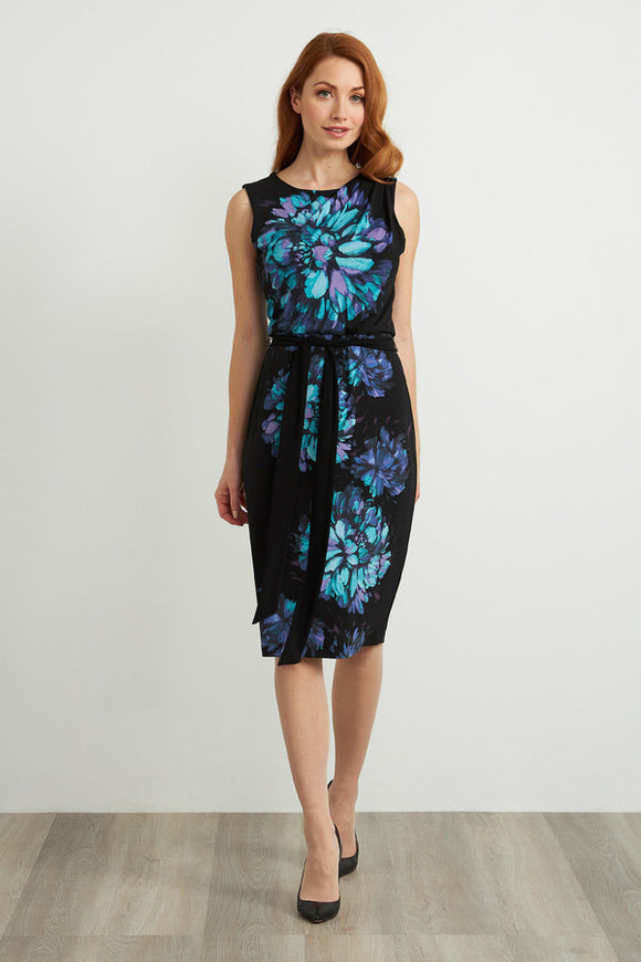 Joseph Ribkoff Sleeveless Floral Dress