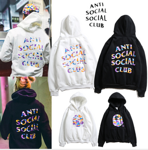 Mens Hoodies Hip Hop Justanti social social club Brand ASSC Hoodie Casual Sweatshirt Men Cotton high quality Print Sweatshirts