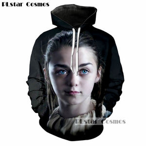 PLstar Cosmos Popular TV Game of Thrones Jon Snow Stark 3D Print Men/Women Hoodies