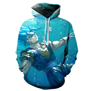 Cartoon hoodie seven dragon ball Z pocket hooded sweatshirt sleeves for men and women wearing