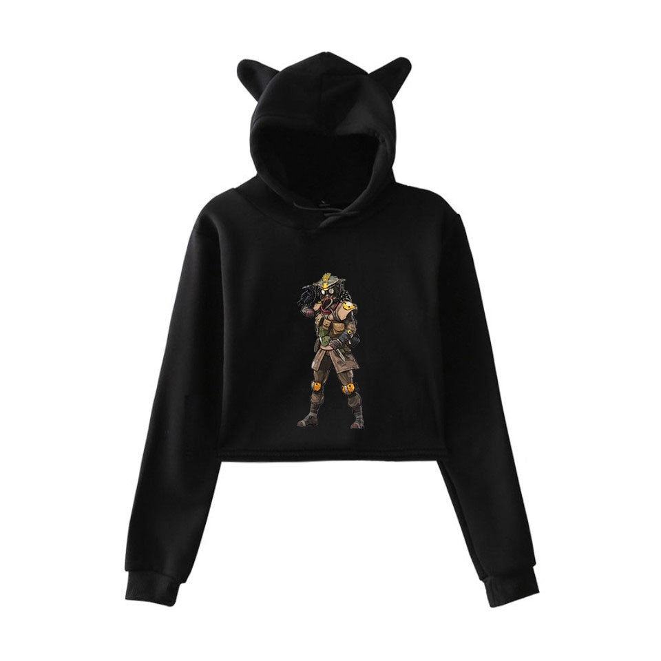 Apex Legends Print Hoodies Sweatshirts Women Cat ears with hood hoodies