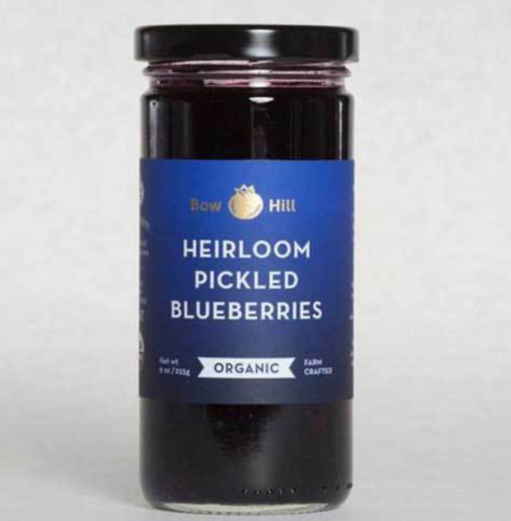Bow Hill - Organic Heirloom Pickled Blueberries  9 oz