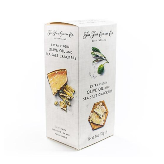 Extra Virgin Olive Oil and Sea Salt The Fine Cheese Co - Specialty Flavoured Crackers 4.4 oz