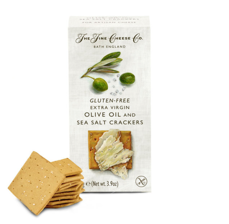 Gluten Free Extra Virgin Olive Oil and Sea Salt The Fine Cheese Co - Specialty Flavoured Crackers 4.4 oz
