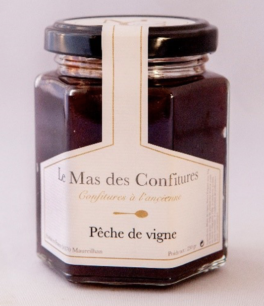 Le Mas Des Confitures Peach jam - 210 grams