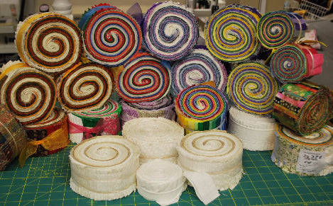 A Jelly Roll for a fast quilt!