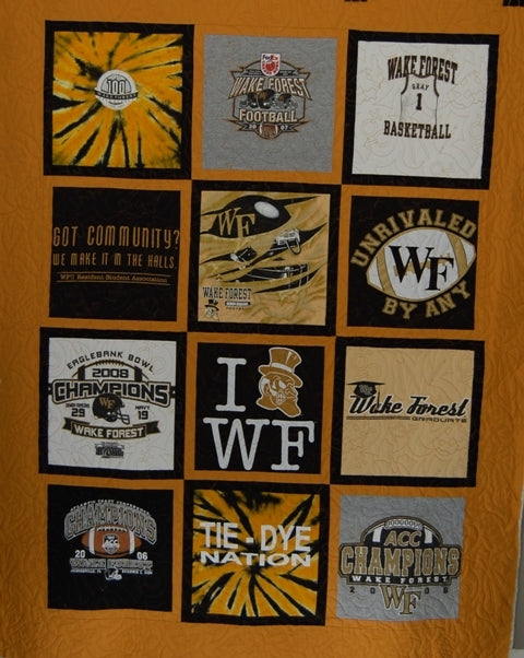 Wake Forest T-Shirt Quilt