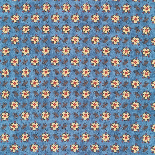 Waddington Road Primitives - Yellow Flowers on Blue 340