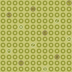 Ring Ring Dots Green - 645