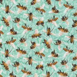 Frolicking Fields Bees Turquoise - 644